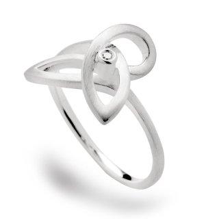Ring 925/- | Sterlingsilber mit Diamant.