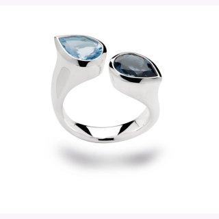 Ring 925/- Sterlingsilber Blautopas