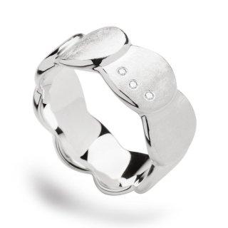 Ring 925/- Sterlingsilber mit 3 Diamanten.