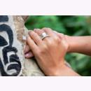 Ring 925/- Sterlingsilber mit Diamant 0,03ct und einem...