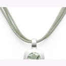 Baumwollband | Sterlingsilber Hellgrünes 45cm-langes Baumwollband