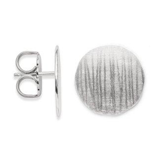 Ohrstecker   Sterlingsilber Scheiben-Ohrstecker mit besonderer Oberfläche