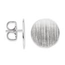 Ohrstecker 925/- Sterlingsilber Scheiben-Ohrstecker mit besonderer Oberfläche