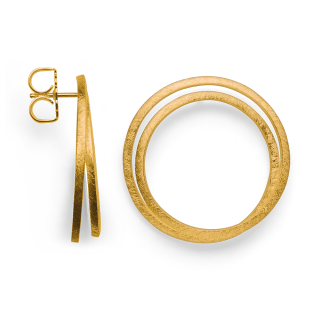 "Ohrstecker 925/- Sterlingsilber vergoldet. Designohrstecker aus der ""The Twin Circle Collection"""