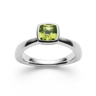 Ring 925/- | Sterlingsilber Intensiv leuchtender Peridot mit 1,03ct