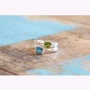 Ring 925/- | Sterlingsilber Intensiv leuchtender Peridot...