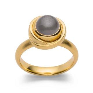 Ring   Sterlingsilber Fingerschmuck mit prachtvollem Mondstein