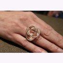 925/- Ring  mattiert/poliert