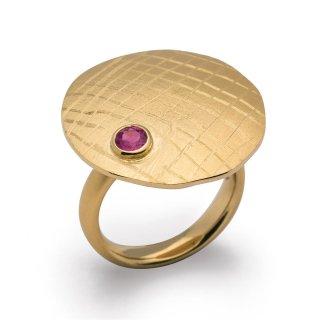 Ring 925/- vergoldet mit Rhodolith