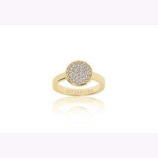 925/- Ring SACILE - 18K Gold vergoldet mit weißen Zirkonia