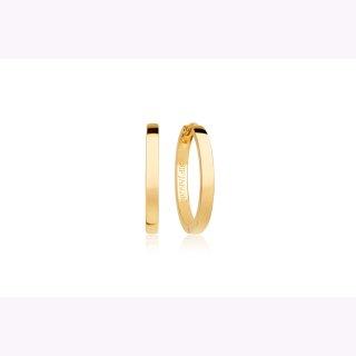 Creolen 925/-  ELLERA PIANURA GRANDE - 18K GOLD vergoldet