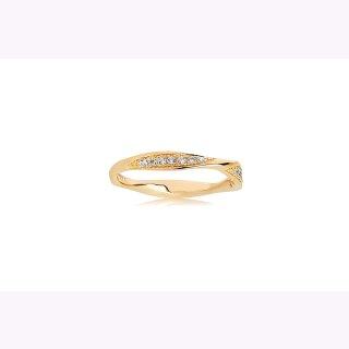 RING CETARA - 18K GOLD vergoldet mit weißen Zirkonia