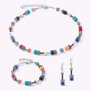 COEUR DE LION GeoCUBE® Halskette multicolor ethno