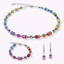 COEUR DE LION GeoCUBE® Halskette Multicolor Rainbow
