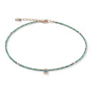 COEUR DE LION Halskette small crystal roségold...