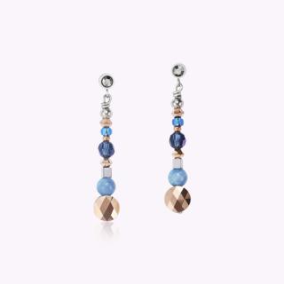 COEUR DE LION Ohrhänger Amulett small Swarovski® Kristalle & Amazonith montana