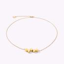 COEUR DE LION Halskette Dancing GeoCUBE® Edelstahl gold