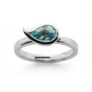 Ring 925/- Sterllingsilber, facettierter Blautopas 1,13ct...
