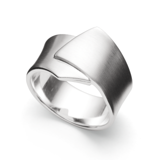 Ring | Sterlingsilber Raffinierter Basic-Ring aus mattiertem Silber