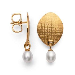 Zauberhafter, handwerklich verarbeiteter Ohrschmuck mit Perle