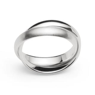 Ring 925/- Sterlingsilber mit flexiblen Ringschienen in unterschiedlichem Oberflächenfinish.