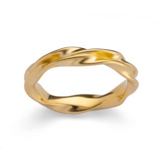 Ring 925/- vergoldet. Warme Vergoldungen auf  raffiniert gearbeiteter Oberfläche.